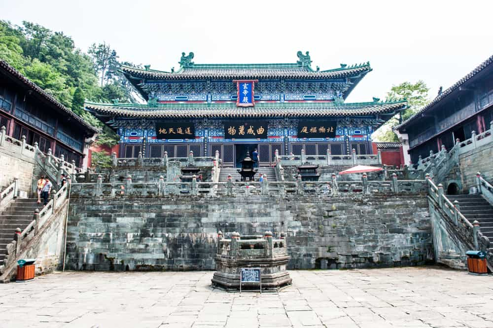 Close up of Temple Architecture in Wudang Mountain Taichi